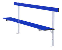 Standard bench 2m long with backrest
