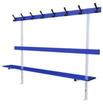 Standard bench 2m long with backrest and peg rail