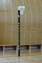 Indoor freestanding netball post