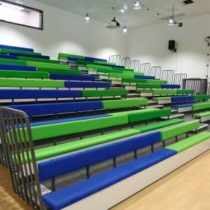 Multicolour seating risers
